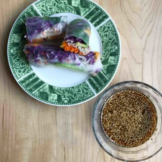 Soba and Veggie Summer Rolls with Sesame-Soy Dipping Sauce
