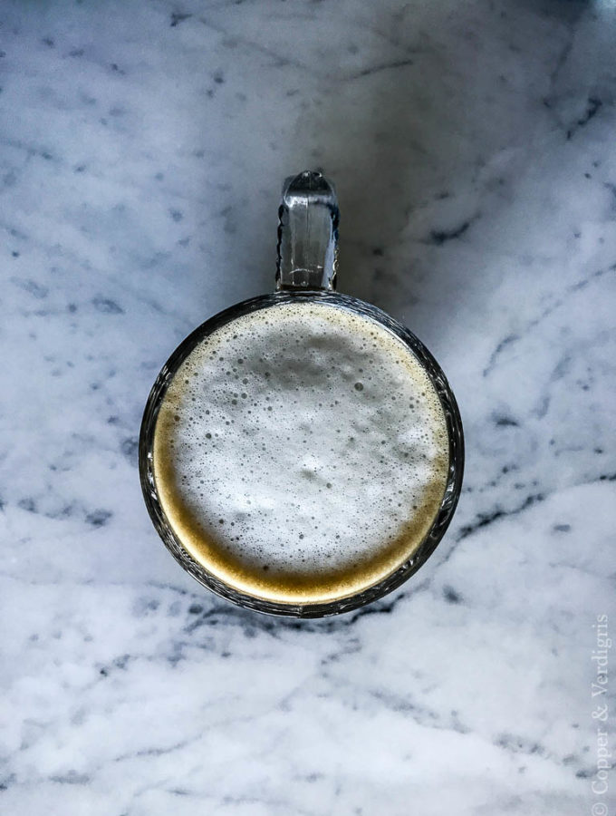 maple latte from above